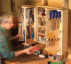 Pantry Door Tool Cabinet -Small Shop Solutions - Popular Woodworking Magazine