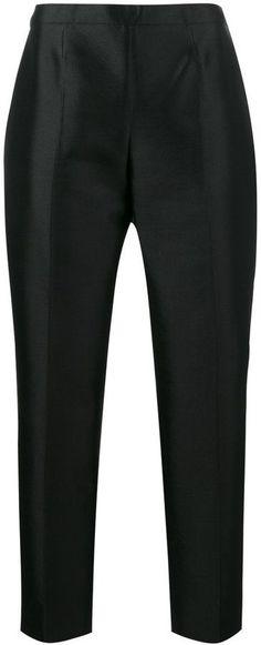 Haute Pantalon De Cigarette Taille Haute - Noir Prada YpEPd3aF47