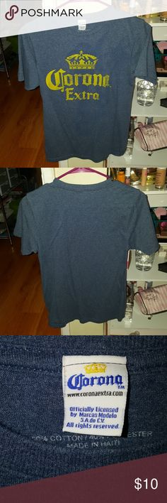 Corona Graphic T-Shirt I wore this item from the men's section and it fits me good (I'm size m in tops) . I don't wear it anymore because I don't drink. Looks new still. Feel free to make an offer. Shirts Tees - Short Sleeve