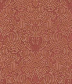 Fretwork Red wallpaper by Colefax and Fowler
