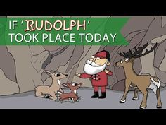 """An animation by FatAwesome (previously) shows how the story ofRudolph the Red-Nosed Reindeer would be different today with the advent of the Internet when a clip of Santa saying, """"We can't have an..."""