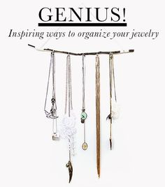 Genius Ideas To Help You Organise Your Jewellery