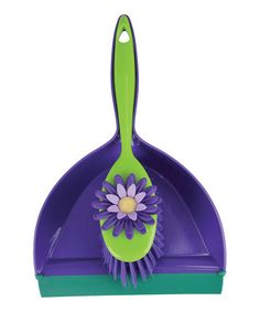 This high-fashion brush and dustpan make it simple for domestic divas to whisk away unsightly refuse and look lovely all the while. Interlocking construction offers the added bonus of easy storage. Includes brush and dustpanBrush: 2.5'' W x 11.5'' HDustpan: 1...