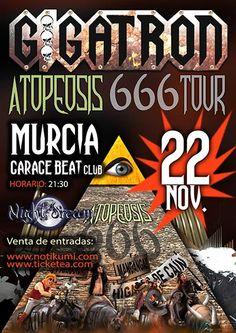 Entradas para Gigatron + Night Dream en Murcia el 22 de noviembre 2014 en notikumi