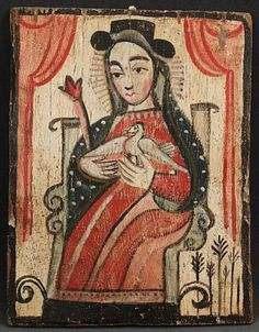 """""""The Soul of Mary,"""" known as Our Lady of Incarnation, is by New Mexican Rafael Aragon and dates from the mid-19th century. (Courtesy of the Museum of Spanish Colonial Art)"""
