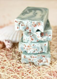 Sea Clay Swirl Homemade Cold Process Soap Recipe