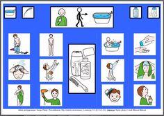 MATERIALES - Tableros de Comunicación de 12 casillas: Asear - Chico. http://arasaac.org/materiales.php?id_material=224