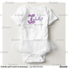 Isabella girls name & meaning I monogram shirt by www.mylittleeden.com #isabella
