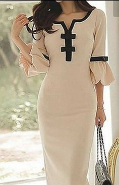 Dress Woman Occasion Wedding Evening Mother Of The Bride New Beige Black Classy #Ad , #SPONSORED, #Wedding#Evening#Occasion