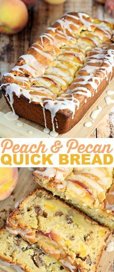 This Pecan & Peach Quick Bread is a family favourite Recipe. This Pecan & Peach loaf is wonderful after dinner with some coffee but equally… (Quick Bread Recipes) Breakfast Bread Recipes, Quick Bread Recipes, Savory Breakfast, Sweet Recipes, Pecan Recipes, Nutella Recipes, Peach Recipes For Breakfast, Sweet Bread Loaf Recipe, Coffee Bread Recipe