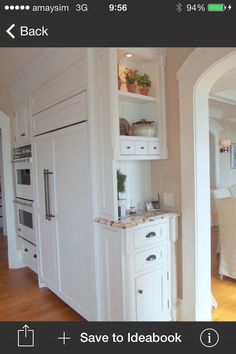 Something similar in style to this Functional area on the side of the pantry which we'd make slightly smaller
