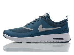 on sale f49fe 314fd ... 50% off nike air max thea print chaussures de course pour femme fille  bleu vert