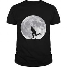Cool MOON PUSHING SKATE SKATEBOARDING SKATEBOARDER SKATEBOARD Girl Boy Dad Mom Man Men Woman Women Shirts & Tees
