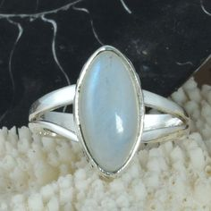 EXCLUSIVE 925 SOLID STERLING SILVER Rainbow Moonstone RING 4.30g DJR9702 SZ-9 #Handmade #Ring