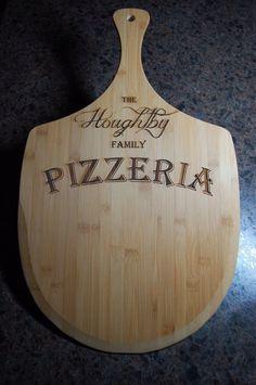 Personalized pizza board, personalized pizza peel, pizza