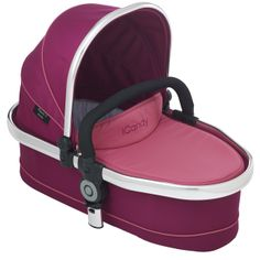 Peach 3 Blossom Carrycot Fuchsia - Optional extra carrycot suitable from birth and overnight sleeping. Comes complete with padded mattress and raincover. Ideal until baby can sit unaided or weighs 9kg. http://www.icandyworld.com/uk/en/product/peach-3