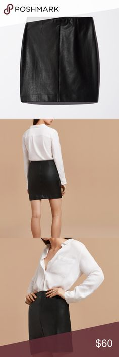 Faux Leather skirt In great condition! Taula Saltwell Skirt Aritzia Skirts Mini