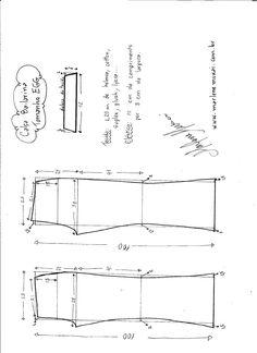 Esquema de modelagem de calça Bailarina tamanho EGG.