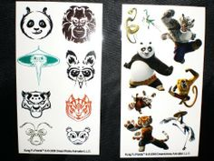 Kung Fu Panda in Action Temporary Tattoos (Lot of 48) by Kung fu panda. $12.00. Clean, New In Original Package. Goes On Smooth And Clean. 2 Sheets Of Stickers Per Pack With 8 Stickers On Each Sheet. Great For Birthday Party Bag Stuffers. You can have your favorite Kung Fu Panda Characters In Action, Tattooed! Perfect Gift For Any Age