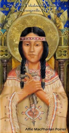 40 Days of Catholic Saints: Day 4  St. Kateri Tekakwitha  Patron Saint of: ecologists, ecology, environment, environmentalism, environmentalists, loss of parents, people in exile, people ridiculed for their piety, Native Americans, Igorots, Cordilleras, Thomasites, Northern Luzon,Diocese of Bangued, Vicariate of Tabuk, Vicariate of Bontoc-Lagawe, Diocese of Baguio, Philippines #Catholic #saint #Saints
