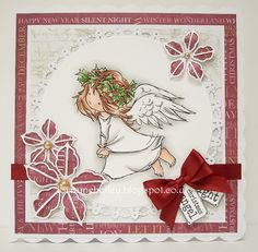 Good Morning Everyone, I have a quick card to share today using one of the gorgeous returning friends from Lili of the Valley . Christmas Tag, Christmas Angels, All Things Christmas, Fall Cards, Xmas Cards, Angel Flying, Angel Cards, Silent Night, Digi Stamps