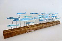 #Shoeless joe fish shoal on driftwood, #coastal, #nautical, seaside,  View more on the LINK: http://www.zeppy.io/product/gb/2/322191114750/
