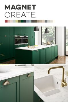 Introducing Magnet Create - 20 new kitchen colours you can't just see, you can feel. Kitchen Cabinet Colors, New Kitchen Cabinets, Kitchen Colors, Kitchen Ideas, Kitchen Decor, Kitchen Colour Schemes, House Color Schemes, Open Plan Kitchen Living Room, Def Not