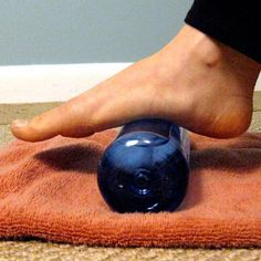 5 Ways to Show Your Running Feet Some Love ~ 1. Self-massage with a tennis ball 2. Trim your toenails 3. Exfoliate dry skin with bath gloves or pumice stone & moisturize 4. Stretch! Kneel with toes pointing toward knees on floor. For front, gently push top of toes into floor. 5. Ease inflammation using bottle; fill 1/2 w/ ice & fill with water. Put on top of towel for condensation & roll foot over