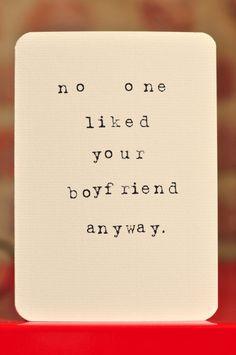 Break up card...