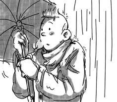 Tintin in the Rain by ~Hennei on deviantART
