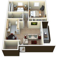 small apartment design floor plan - Google Search