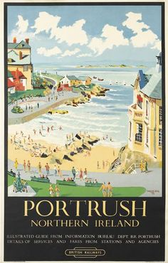 Portrush, northern Ireland - British railways - 1953 - (Charles King) -