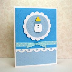 baby boy card. Like the different colors.