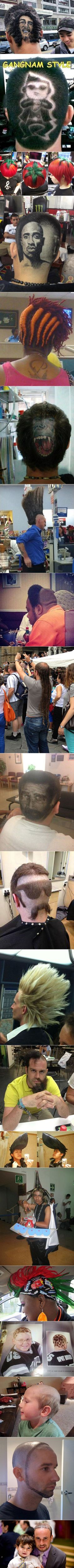20 Cool and Strange (Yet Real) Haircuts Captured by Geeks - TechEBlog
