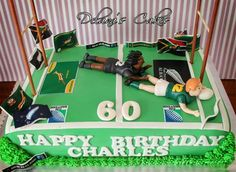 Rugby cake Dad Birthday Cakes, 7th Birthday, African Cake, Rugby Cake, Amazing Cakes, Party Time, Cake Decorating, Dads, Food