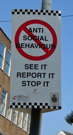 Anti-Social Behavior Anti Social Behaviour, Psychology, Psicologia