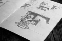 """""""A collection of my hand drawn logotypes, crests, marks and monograms. Everything I design starts with pencil and paper."""""""