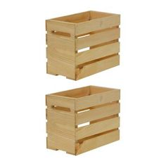 Crates & Pallet Crates and Pallet 27 in. X-Large Wood Crate Storage Tote Natural - The Home Depot