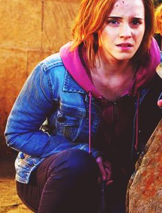 Emma Watson as Hermione Granger in Harry Potter and The Deathly Hallows.