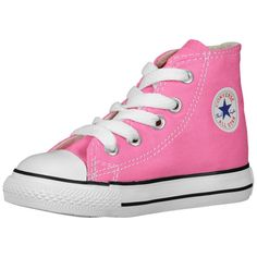 83e79a822a6 Baby Shoes Toddler Shoes Converse Chuck Taylor 7J237 Hi Top Pink Canvas  Sneakers  Converse