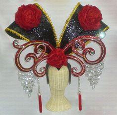 Da NeeNa Tai-Hao Chinese Cabaret Drag Showgirl Headdress Shrek Costume, Costumes, Showgirls, Cabaret, Ornament Wreath, Headdress, Burlesque, Theater, Dancing