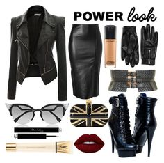 """POWER!"" by obscura on Polyvore featuring Doublju, Zara, Jitrois, Alexander McQueen, BCBGMAXAZRIA, Lime Crime, Fendi, Yves Saint Laurent, MAC Cosmetics and Christian Dior"