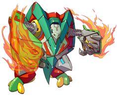 Heat Genblem - Characters & Art - Mega Man Zero 4