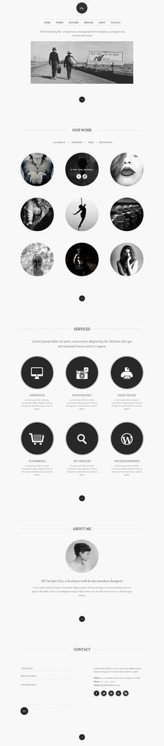 great one page web wordpress themes