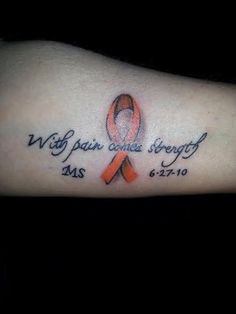 Multiple Sclerosis Tattoos. Check out our second gallery of multiple sclerosis body art. | Patient Talk
