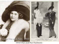 1910s hat and fur fashions