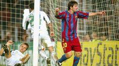 Goles de Messi en sus 100 partidos de Champions