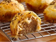Mini Meatball Reubens!  (...and a page dedicated to the myriad uses of the Crescent roll...)
