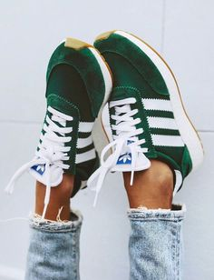 Adidas Shoes OFF!>> Trendy Adidas Sneakers for Women Mode Adidas, Adidas Iniki, Adidas Sneakers, Shoes Sneakers, Green Sneakers, Green Addidas Shoes, Green Adidas Trainers, Adidas Shoes Women, Retro Adidas Shoes
