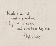 Palabras del maestro del terror.